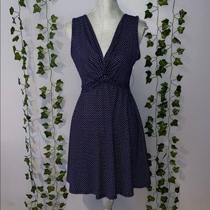 Woman's Rolla Coster Navy/White Polka Dot Dress S